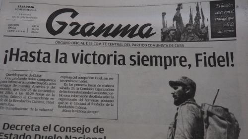 Fidel Castro, Cuba en deuil