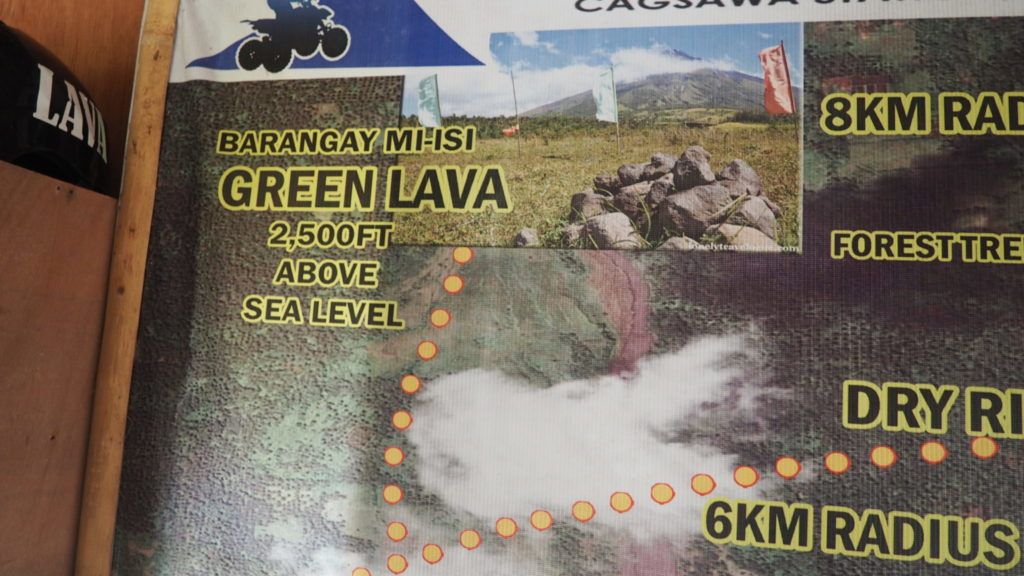 Green Lava, 762 mètres au dessus du niveau de la mer.