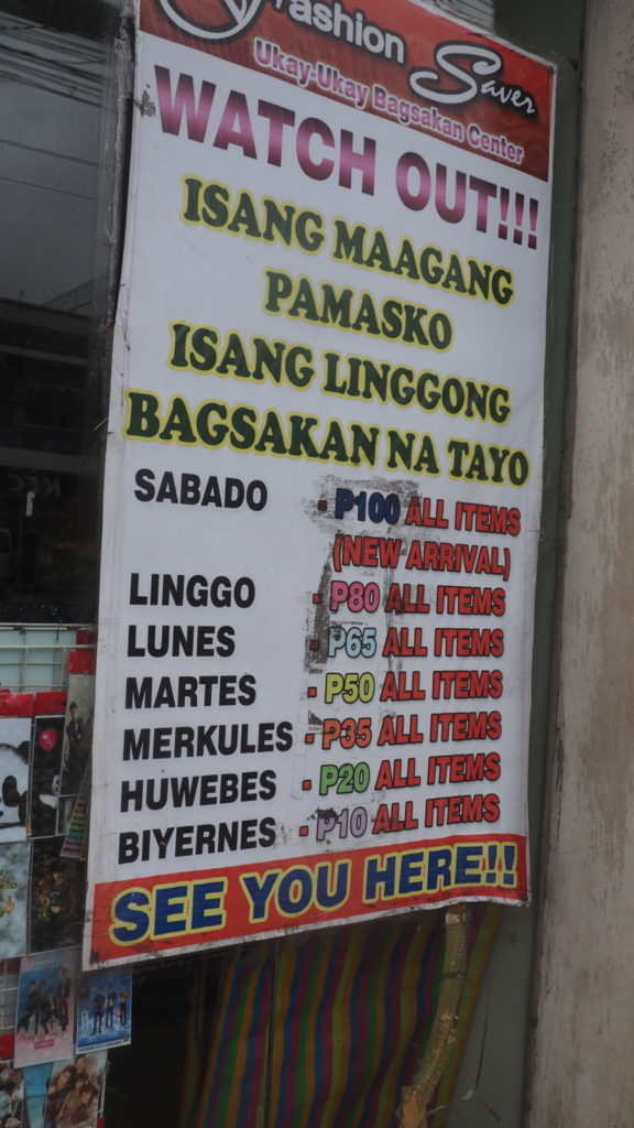 Jours de la semaine en Tabalog